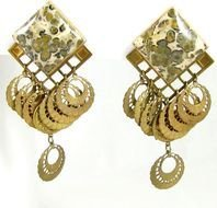gold Large Dangle Earrings drawing