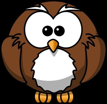 Beautiful cartoon owl clipart