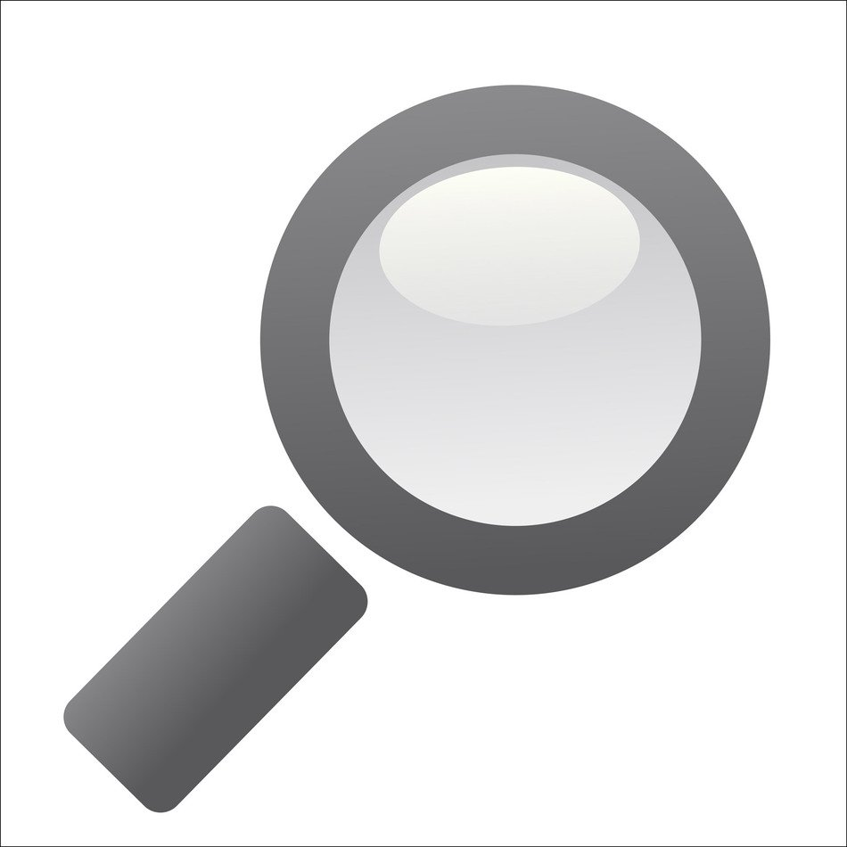 Magnifying Glass, greyscale drawing