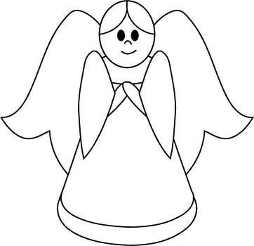 coloring page with an angel