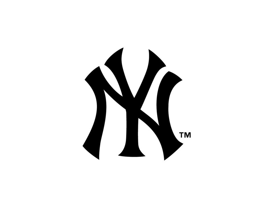 New York Yankees Logo Stencil drawing