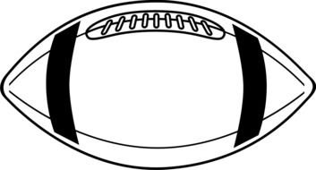 black and white drawing of a soccer ball for american football