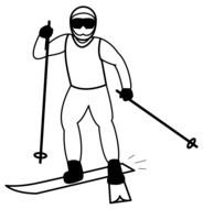 Cross Country Skiing drawing
