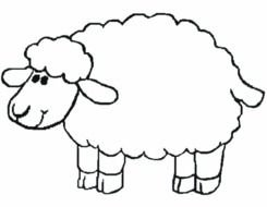 March Coloring Pages Page 10 Sheep Printable Clipart Free Image