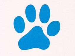 blue animal footprint as graphic illustration