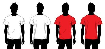 T Shirt Template drawing