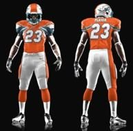 Miami Dolphins New Uniforms drawing