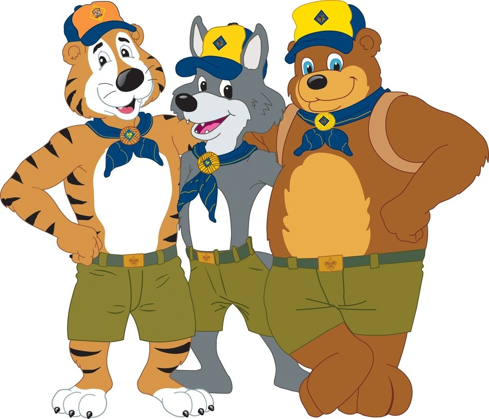 Cub Scout as a graphic illustration
