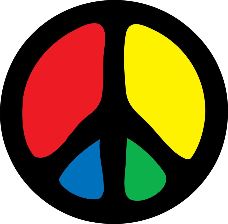 Colorful Peace Sign Clip Art