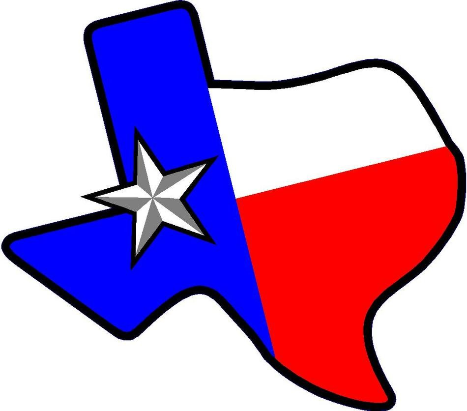 Texas Flag star drawing