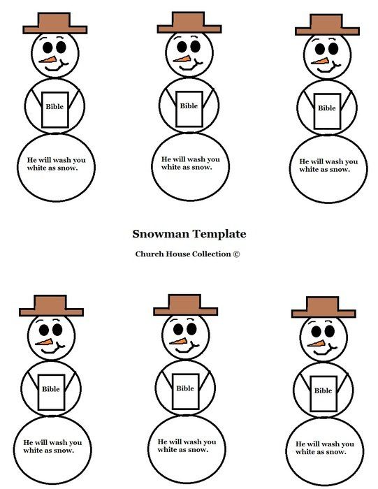 snowman patterns for cutting