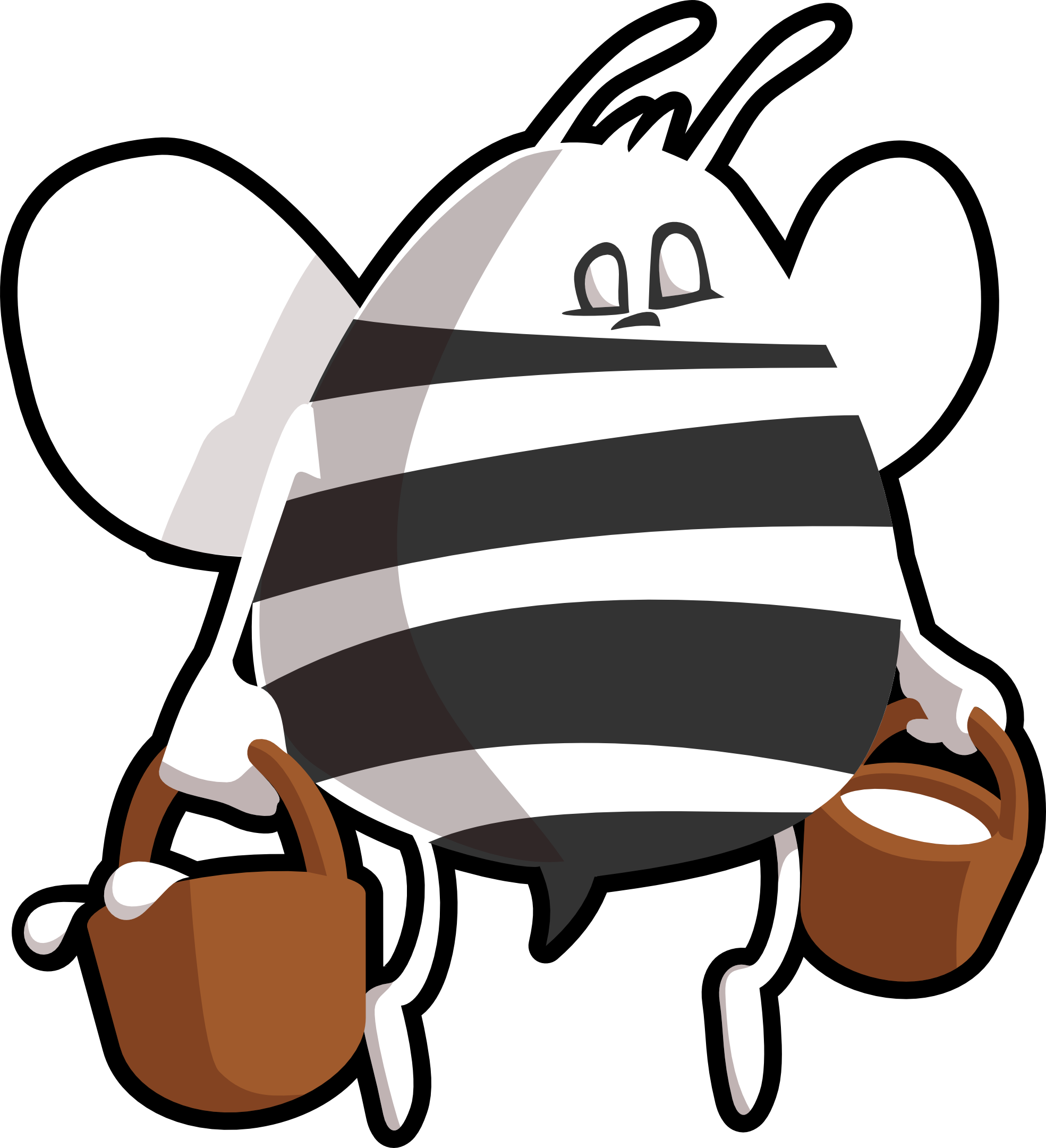 Black And White Cartoon Bee Clipart Free Image Download