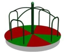 Colorful circle tool on the playground clipart