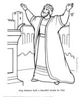 King Solomon Coloring Pages For Kids drawing