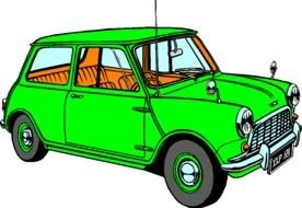 Colorful cartoon car clipart