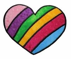 Clipart of Rainbow Hearts