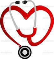 Clipart of Heart Shaped Stethoscope