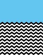 Blue,black and white chevron pattern clipart