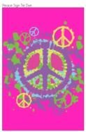 Ä°llustration of Tie Dye Peace Sign