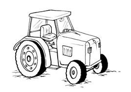 Deere Farm Tractor drawing
