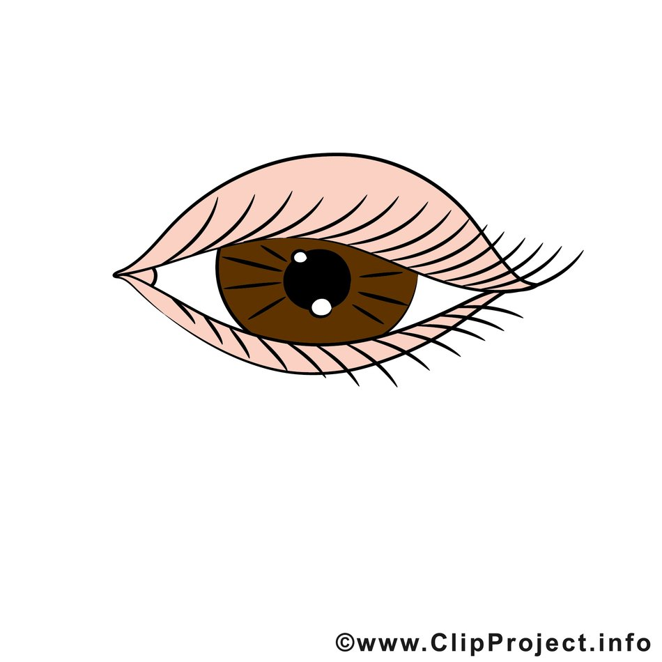 brown eye drawing
