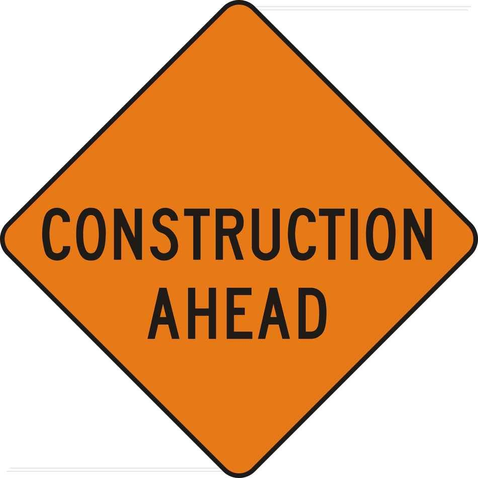 Construction ahead Zone Signs Clip Art