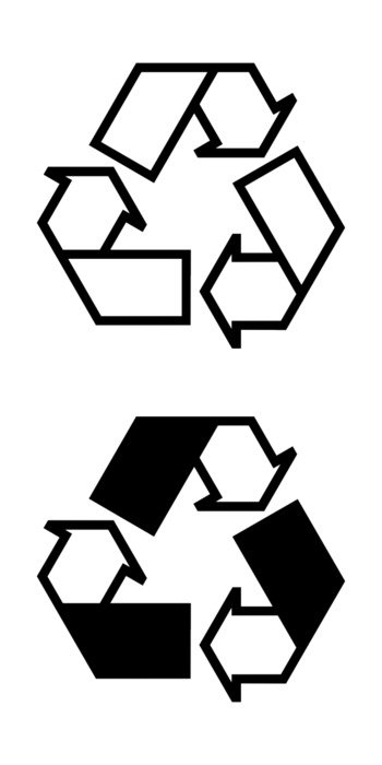 Recycle Clip Art Black And White drawing