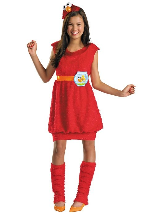 Teen Girl in Halloween Costumes