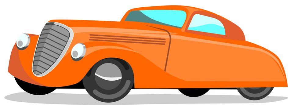 Old Car Cartoon clipart