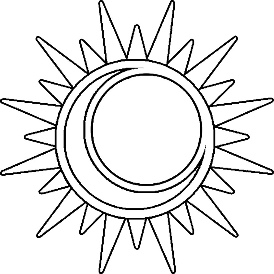 Sun Moon Coloring Pages drawing