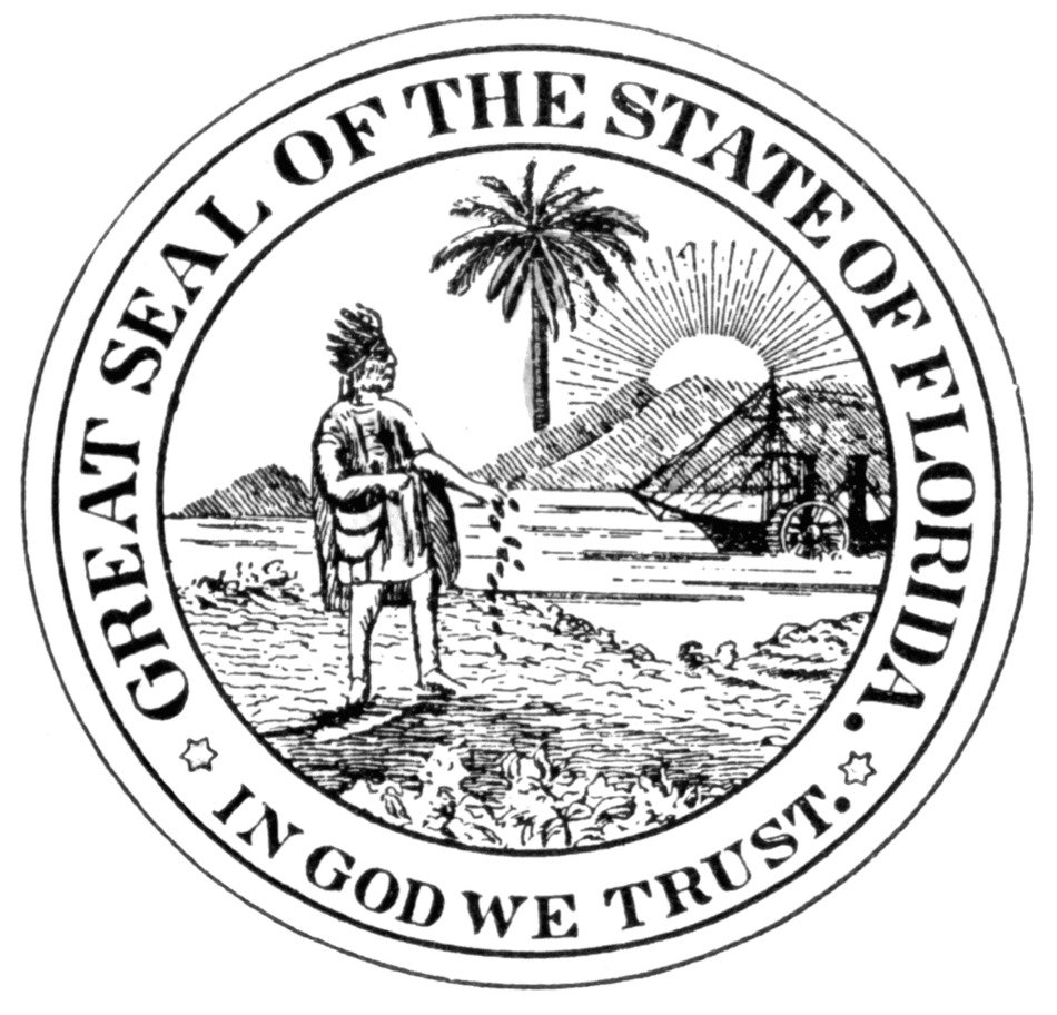 clipart of the Florida Seal symbol