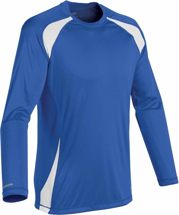 blue and white sports longsleeve