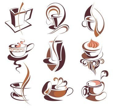 Drawing of the coffee cups clipart