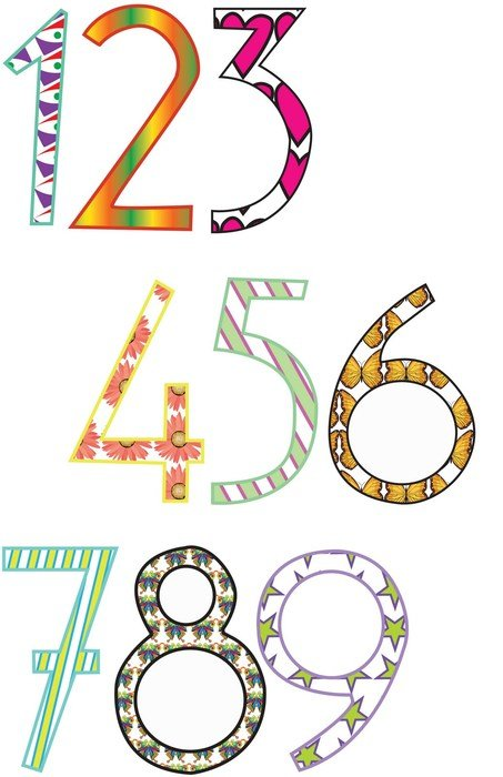 multicolored numbers as a graphic illustration