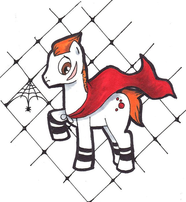 Colorful cartoon drawing of the pony clipart