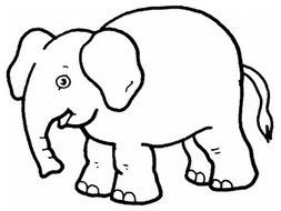 Elephant Coloring Pages drawing