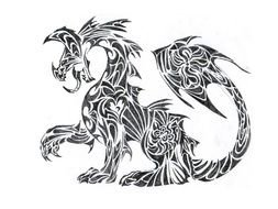 drawn dragon tattoo
