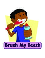 Brush My Teeth as a graphic illustration