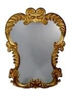 vintage mirror with gold frame