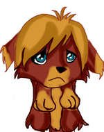Beautiful and colorful drawing of the cute puppy with the blue eyes clipart