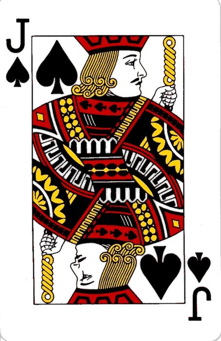 Jack Of Spades Playing Card drawing