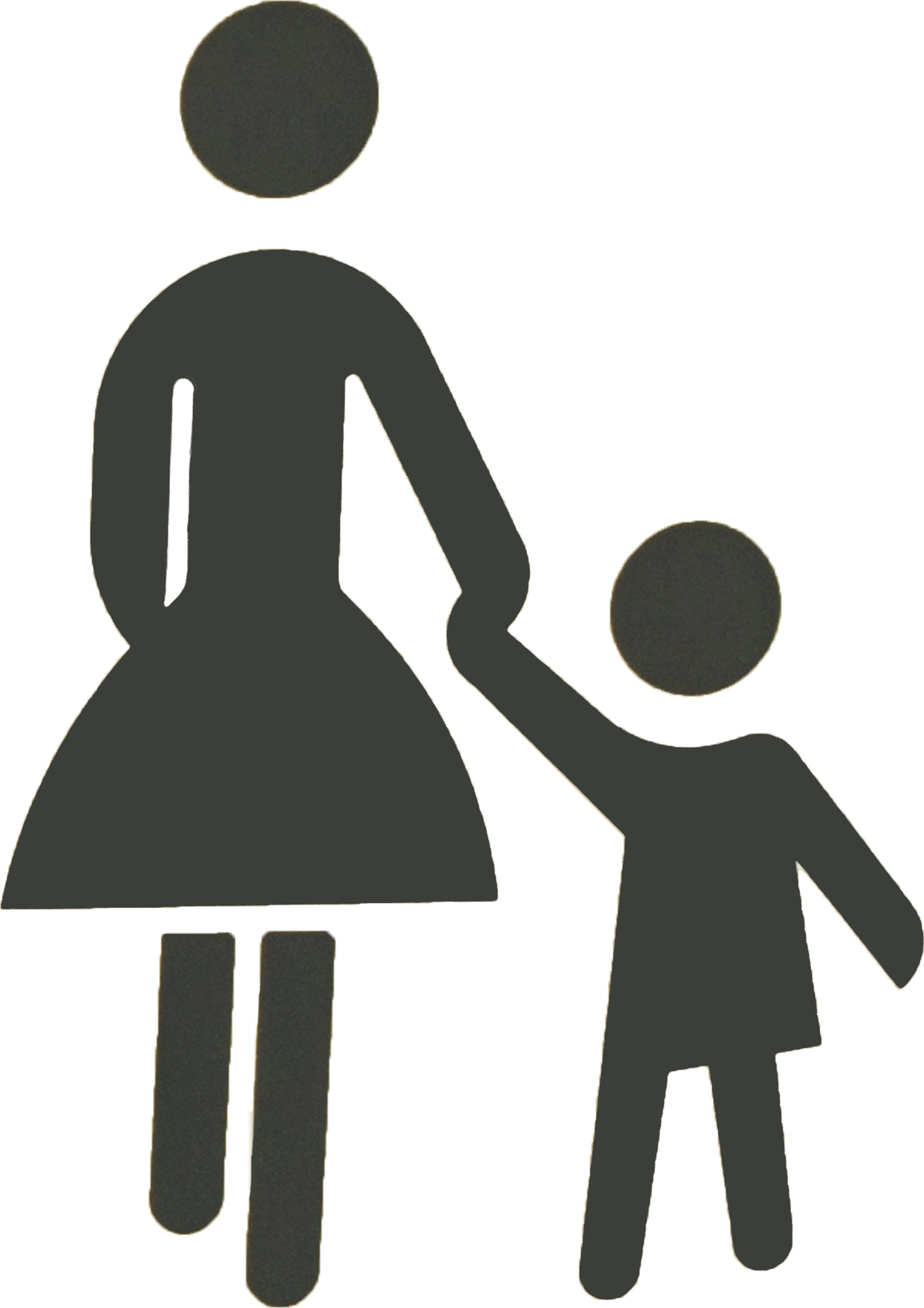 Mother And Child Symbol Free Image