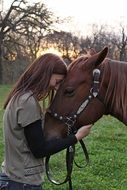 girl and horse and love