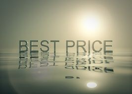 "The phrase ""best price"" with a mirror image"