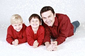 family father children boys
