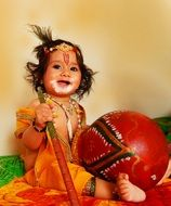 indian child in traditional dress