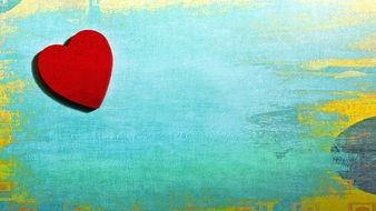 red heart on a vintage background