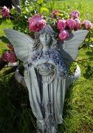 garden fairy with roses