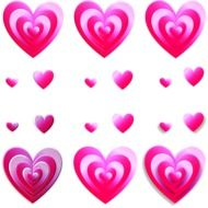 A lot of the colorful hearts clipart