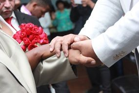 handshake at the wedding